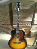 Flame Maple Deluxe Acoustic Electric Guitar with Real Abalone (J200NA)
