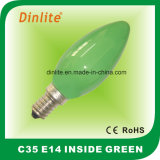 C35-Colorful Inside Candle Incandescent Bulb