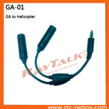 Aviation Headset Adapter for Ga to Helicopter Plug