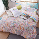 Home Textile Cheap Printed Cotton Fabric Bedsheets Duvet Cover Set