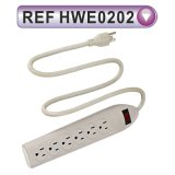 Grounding Power Strip with Extension Cable and Switch (HWE0202)