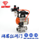 3PC Clamp Pneumatic Actuated Ball Valve