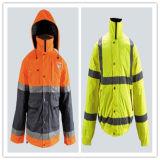 Hi-Vis Safety Reflective Zip Hooded Jacket with Pocket