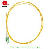 Singlemode 9/125 LC APC PVC LSZH Jacket Fiber Optic Pigtail