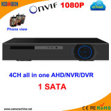 4 Channel H. 264 Standalone 5 in 1 Network CCTV DVR