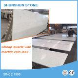 Cheap Price Pure White Precut Slab Artificial Quartz Stone