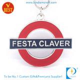 New Design 3D Imitation Enamel Festa Claver Metal Key Ring in High Quality