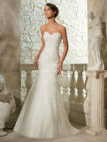 Embroidary Beading Lace Mermaid Wedding Bridal Dress
