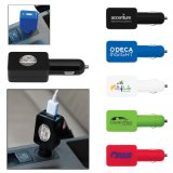 Logo Printed Flat USB Car Adapter (PM072)