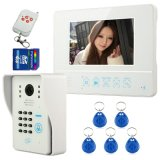 """7"""" Color Wireless Video Door Phone Doorbell with ID Card and Remote Control"""