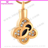 Necklaces for Ashes Gold Plating Clover Pendant with Crystals Ijd9641