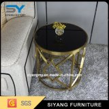 Office Coffee Side Table with Stainless Steel Leg