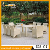 Multi-Purpose Fashion Durable Hand-Woven Rattan White Sofa Chair and Table Set