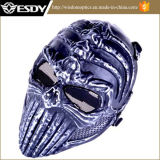 Military Airsoft Full Face Game Protect Safe Mask Sliver Black