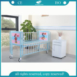 AG-CB003 Wholesale Factory Direct Price Metal Medical Manual Children Bed