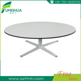 Transportable Matte Light Grey Compact Dining Table Set for Coffee Shop