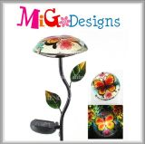 Fashion New Design Metal Garden Stake Mushroom Shaped Solar Light