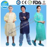 Nonwoven Yellow SBPP Isolation Gowns Isolation Gown with Knitted Cuff