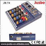 Jb-T4 Professional Audio System 4 Channel Music Digital Sound DJ Mixer for Concert
