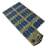 64W 5V 21V Foldable Solar Charger with USB DC Dual Output