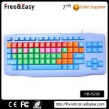 Colorful Big Letters Eco-Friendly USB Wired Kids 86 Key Keyboard