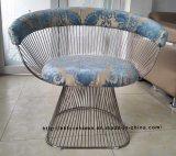 Leisure Dining Restaurant Cushion Metal Outdoor Steel Wire Chair