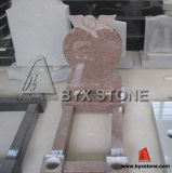 Traditional Kerbed Headstone / Tombstone with Leaning Angel