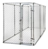 DIY Chain Wire Dog Kennel 7.5FT X 7.5FT X 4FT Height Temporary Dog Fence