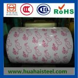 Prepainted Galvanized Steel Coil with Flower Pattern in Compertitive Price