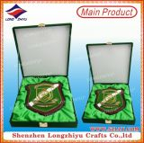 High Quality Wooden Shield Decoration Plaque with Wooden Box
