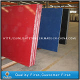Red/White/Blue Artificial Stone Quartz Stone for Countertops and Worktops