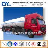 New China LNG Liquid Oxygen Nitrogen Argon Carbon Dioxide Tank Car Semi Trailer