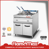 2-Tank 4-Basket Electtric Chip Fryer with Cabinet (HEF-70)