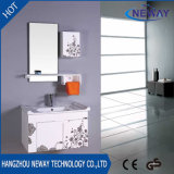 Wholesale Bathroom Plastic Vanity Cabinet with Side Cabinet