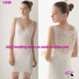 New Arrival Short Bridal Wedding Dress with V Neckline