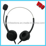 Binaural Call Center USB Headset, Call Center Noise Cancelling Telephone Headset
