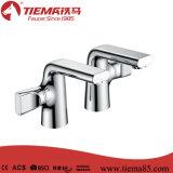 Popular Economical Deck Mounted Twin Bathroom Faucet