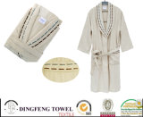 100% Bamboo Super Soft Plain Terry Bathrobe Df-8860