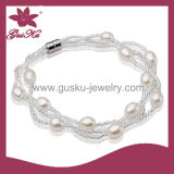 2015 Plb-021 Natural White Pearl Bracelet, Custom Unique Pearl Bracelet