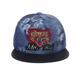 2015 Popular Animal Embroidery and Flower Fabric Snapback Hat (GK15-L0003)