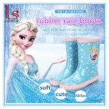 Frozen Princess Cute Children Girls Wellies Shoes Antislip PVC Rubber Rain Boots Galoshes