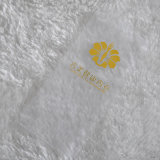 White Ground Yellow Lettels Printing Fabric for Apparel