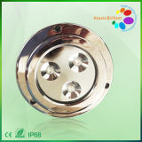 316 Stainless Steel 3*3W LED Marine Deck Light