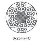 Lifts or Elevators Steel Wire Rope 6X25fi+FC