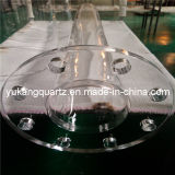 Quartz Glass Jacket Pipe Flange Tube