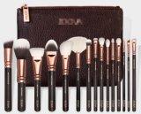 15PCS Professional Gold & Pink Makeup Brush Set