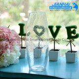 Transparent Cylinder Shape Wedding Glass Vases Wholesale