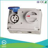 IP44 Female Socket with Switch for Industrial Plugs & Sockets