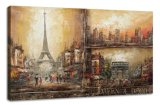 Paris Street Scenes Oil Painting (ADA9032)
