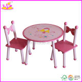 Children Kids Furniture Company- Wooden Table and Chairs (W08G076)